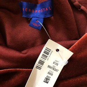 b81b996d23 Aeropostale Dresses - NWT Wine Red Velvet Flowy Dress